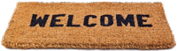 photo of welcome mat - welcome to Rick's info page - Rick Rivera, Licensed Insurance Agent